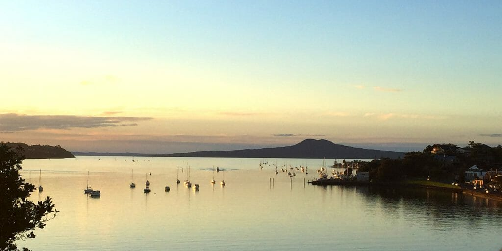 Fraser People rangitoto background